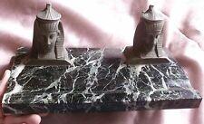 """Encrier bronze & marbre """" SPHINX """" style Empire retour Egypte -Accident & manque"""
