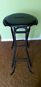 KINSMAN FOLDAWAY COMBINED GUITAR STOOL AND STAND IN BLACK