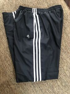 Boys Sz. XL Black/White ADIDAS CLIMAPROOF Mesh-Lined Wind Thin Athletic Pants