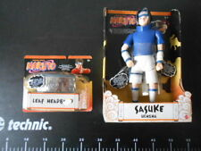SHONEN JUMP'S SASUKE UCHIHA Action Figure + HEADGEAR OFFICIAL NINJA GEAR MATTEL