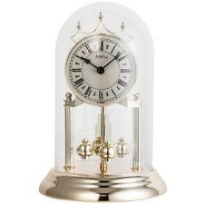 AMS 1203 Tischuhr mit Jahresuhr Drehpendel Drehpendeluhr Messing Optik golden