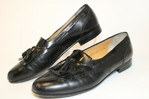 Salvatore Ferragamo Mens 11 D Leather Kiltie Tassel Loafer Italy Made Shoes 6375