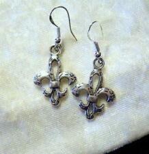 celtes ethnique cadeau * Boucles d/'Oreilles Triskel /& fleur de Lys
