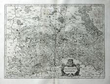 DEUTSCHLAND BAYERN REGENSBURG INGOLSTADT JANSSONIUS KUPFERSTICHKARTE WAPPEN 1658