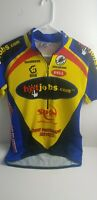 SQUADRA Cycling Jersey Mens Medium 100% Poly Yellow Red Blue And Black  Bicycle
