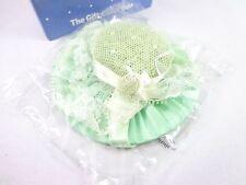 Avon green hat Lacy Bonnet sachet a friend is forever Nwb