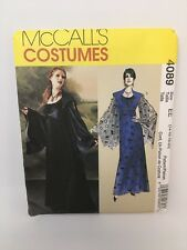 McCalls Goth Adult Costume Pattern Cosplay Gothic Women Dress Sleeves Size 14-20