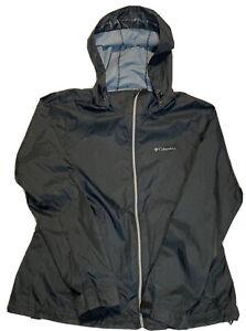 Columbia Women's Packbable Rain Jacket, Black, Size Large