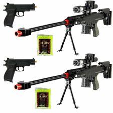 (2Pack) Marksman Tactical Airsoft Sniper Rifle M83A1 Gun & M77B Pistol w/ BB
