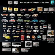 AUDI Logo Ringe versch. Pins Abzeichen badges 1980er bis 2010er Jahre AUSSUCHEN