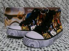 New Disney Star Wars Hi High Top Sneakers Shoes Sz 7 NEW Toddler AABC2024SW