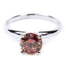 Solitär Diamant Brillant Ring 1,00 ct. Pink SI1 585er 14K Weißgold Alle Größen