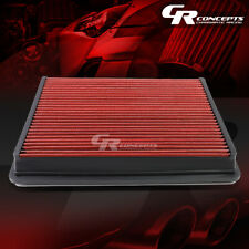 RED WASHABLE FLOW AIR FILTER FOR 01-17 CHEVY/GMC SILVERADO/SIERRA 1500-3500 HD
