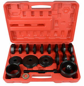23Pc Front Wheel Drive Bearing Puller Press Removal Installation Tool Kit Set