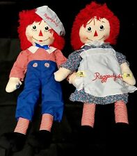 "Huge Raggedy Ann And Andy 85th Birthday Dakin Signature 48"" Plush Dolls"