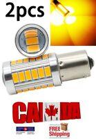 2x 1157 BAY15D Amber Yellow LED 33SMD 5630 Car Signal Blinker Lights DRL