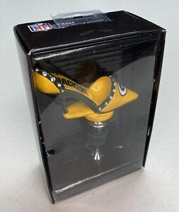 NFL Green Bay Packers Bottle Wine Stopper High Heel Rhinestone Shoe , NIB