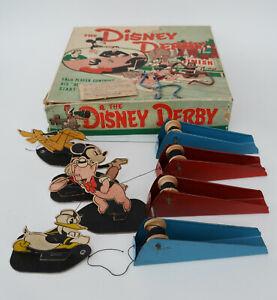 Rare Disney Derby Australian Game Mickey Mouse, Donald Duck, Pluto, Porky Pig
