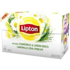 LIPTON Herbal Tea Relaxing Chamomile Lemon Grass  6 boxes x 20 bags=120 tea bags