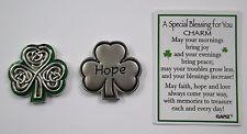 e Hope Irish shamrock celtic SPECIAL BLESSING FOR YOU Pocket Token Charm ganz