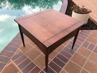 """Mid-Century Bassett """"Danish"""" Side Table--Vintage"""