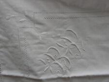 ancienne taie d'oreiller en coton  monogrammée BP