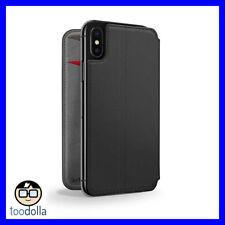 TWELVE SOUTH SurfacePad minimalist genuine leather case/cover, iPhone X, Black