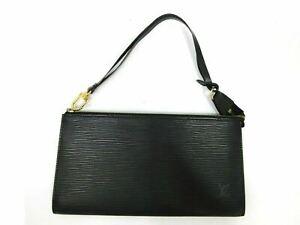 Authentic LOUIS VUITTON Epi Pochette Accessoires Pouch M52942 Leather 90175
