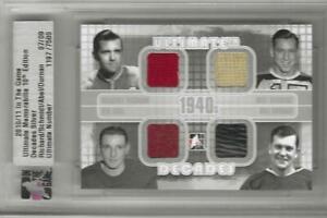 2003-04 ITG Ultimate M. RICHARD, SCHMIDT, SID ABEL, DURNAN Decades 1940's /9