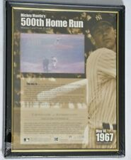 Mickey Mantle 500th Home Run Motion Card Kodak Framed 1st Edition Serial F #2637