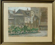 WindowsPE. Carl Falbe Hansen 1896-1969 CASE vista/acquerello datato 1951