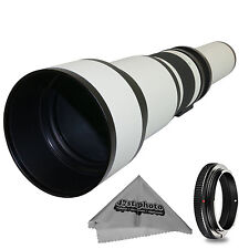 Super 650-1300mm f/8-16 HD Telephoto Zoom Lens for Canon EOS DSLR Cameras