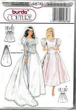 Burda Sewing Pattern 4816 Wedding Dress 8-18 Victorian 80s Vintage Ladies UNCUT