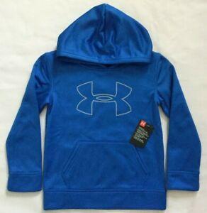 NWT Boy's Under Armour Fleece Big Logo Hoodie Size 6 MSRP $40 27H54229