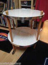 50er 60er Servierwagen Beistelltisch Tisch Resopal Mid Century Table 50s