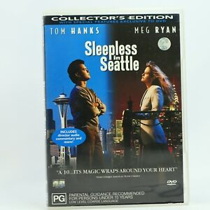 Sleepless In Seattle Tom Hanks Meg Ryan DVD R4 GC Free Tracked Post