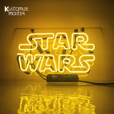 "14""x9""STAR WARS Neon Sign Light Party Nightlight Man Cave Wall Hanging Art Decor"