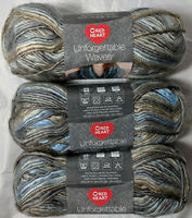 Red Heart Unforgettable Waves Riverbank  3 Skeins 3.5oz 119yds