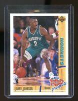 1991-92 Upper Deck Rookie Standouts #R26 Larry Johnson Charlotte Hornets Card