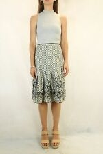 WITCHERY Cotton Print Sequin Skirt Size 10
