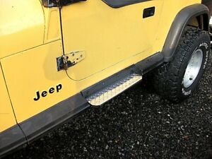 87 to 95 Jeep Wrangler diamond plate Step Covers Only $19.99 with Free shipping!