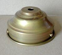 """3 1/4"""" SPUN FLAT LAMP SHADE HOLDER SOLID RAW BRASS REPAIR FIXTURE"""