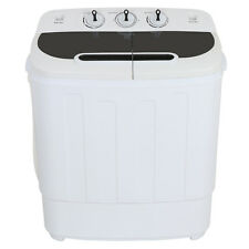 Portable Mini Compact Twin Tub 13lb Washing Machine Washer Spin Dryer White