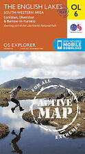 OL6 Lake District South Western Lakes LAMINATED ACTIVE Explorer Map OL 6