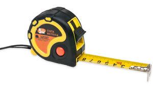 Mètre Extensible 5m X 17mm Mesure Mètre à Ruban Auto-Bloquant Ergonomique