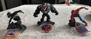 Black Suit Spiderman & Spiderman,Venom Disney Infinity 3 disc 2.0
