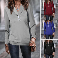 Plus Size Women Long Sleeve Casual Ladies Sweatshirt Pullover Top T Shirt Blouse