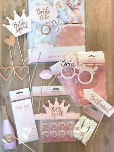 Bride Squad Hen Party Accessories Rose Gold Blush Pink Bride to Be Wedding