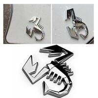 Cool Silver Truck 3D Metal Scorpion Car Sticker Auto Decor Badge Emblem