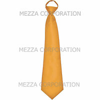 New formal men's pre-tied ready knot necktie polyester solid wedding gold